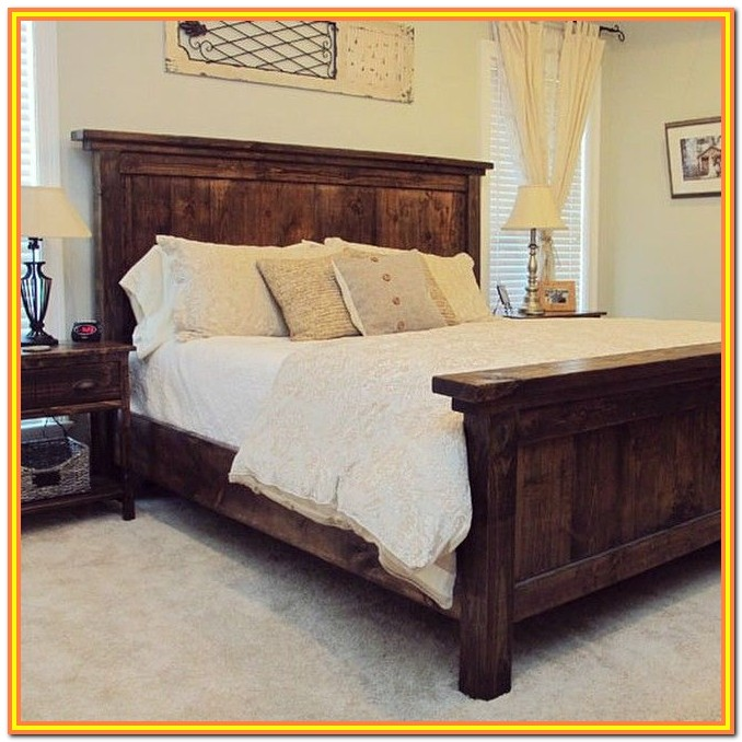 King Size Bed Frame With Headboard Diy