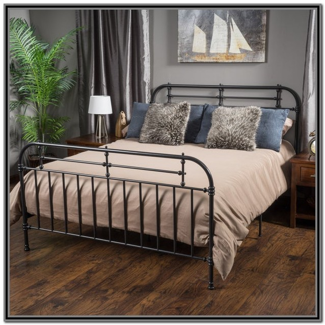 King Size Bed Frame With Headboard Metal