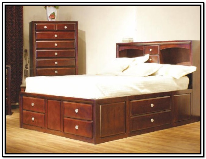 King Size Bed Frame With Storage Drawers Plans