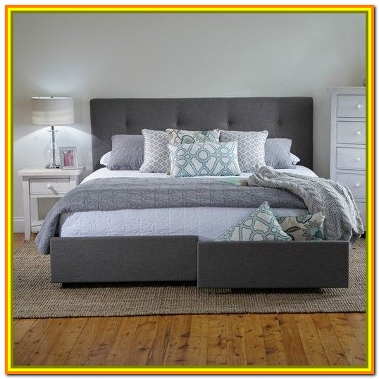 King Size Bed Frame With Storage Headboard