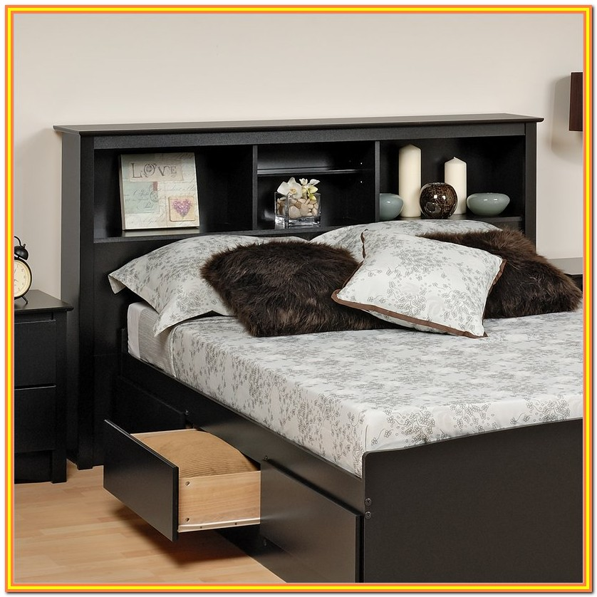 King Size Bed Headboard Storage