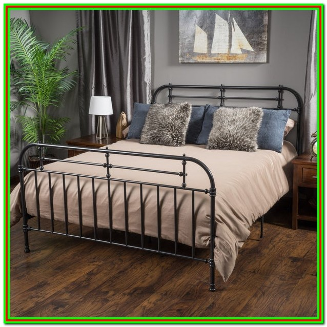 King Size Metal Bed Frame With Headboard