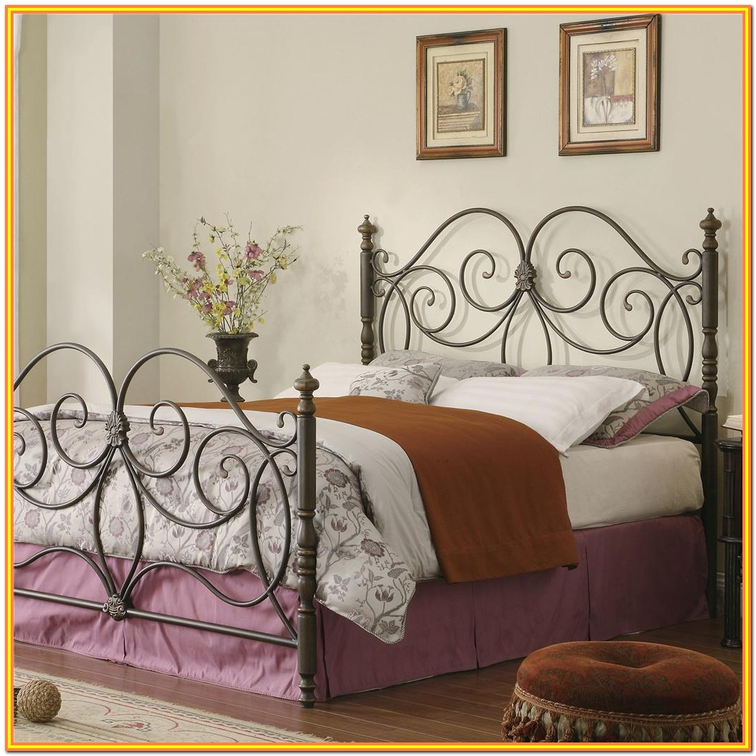King Size Metal Bed Headboard And Footboard
