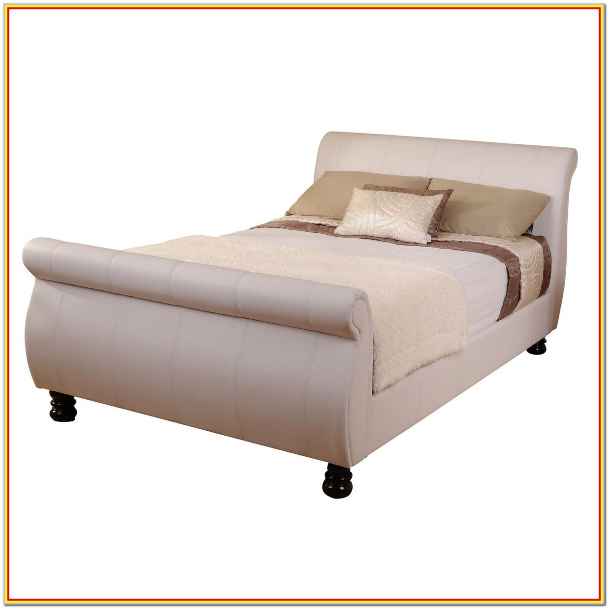King Size Sleigh Bed Frame White