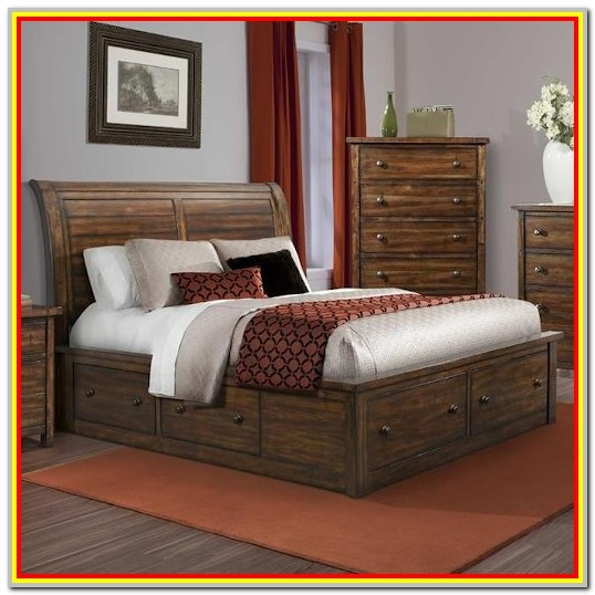 King Size Sleigh Bed With Storage