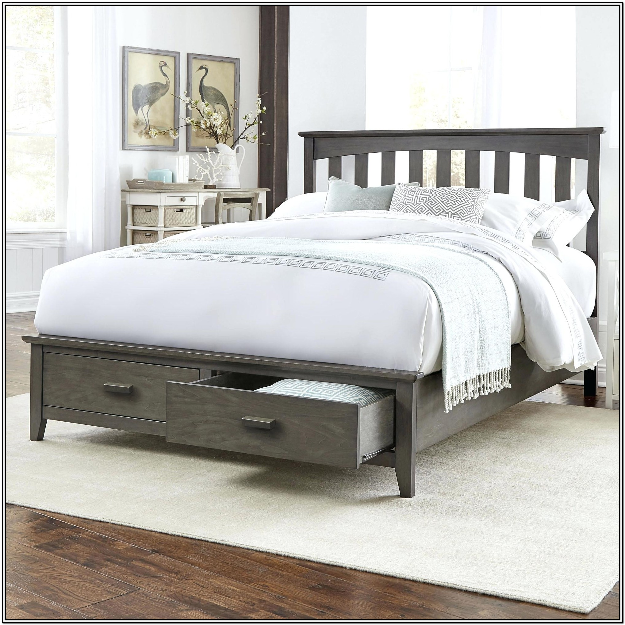 King Size Storage Bed Frame Plans