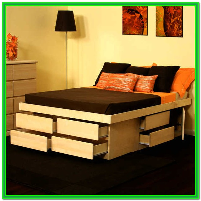 King Size Storage Bed Plans