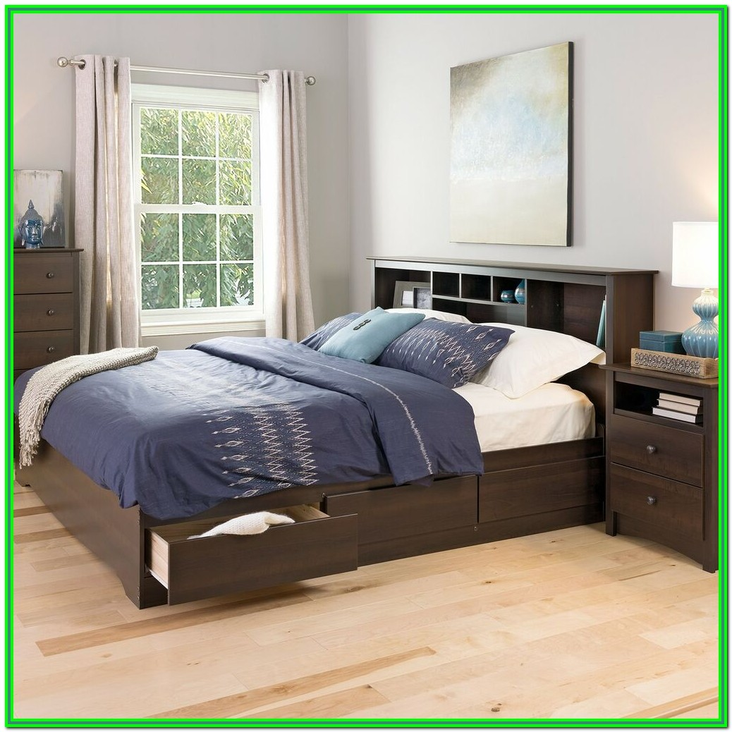 King Size Storage Bed With Mattress