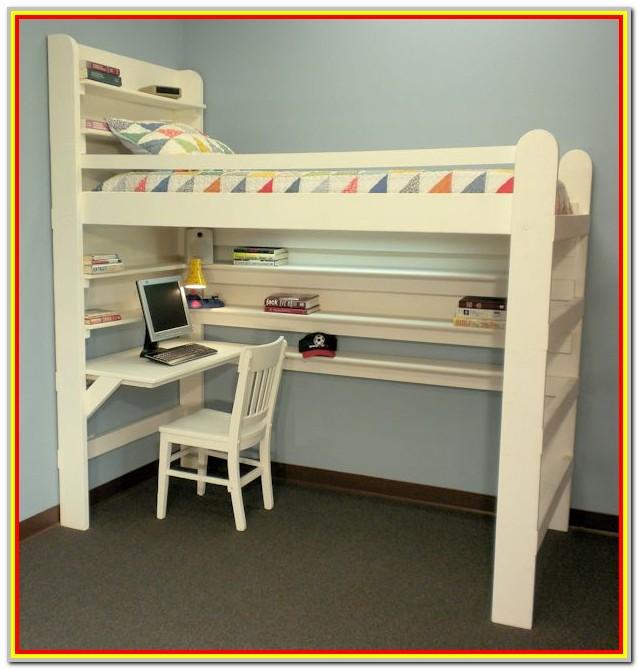 Loft Bed With Shelves Plans