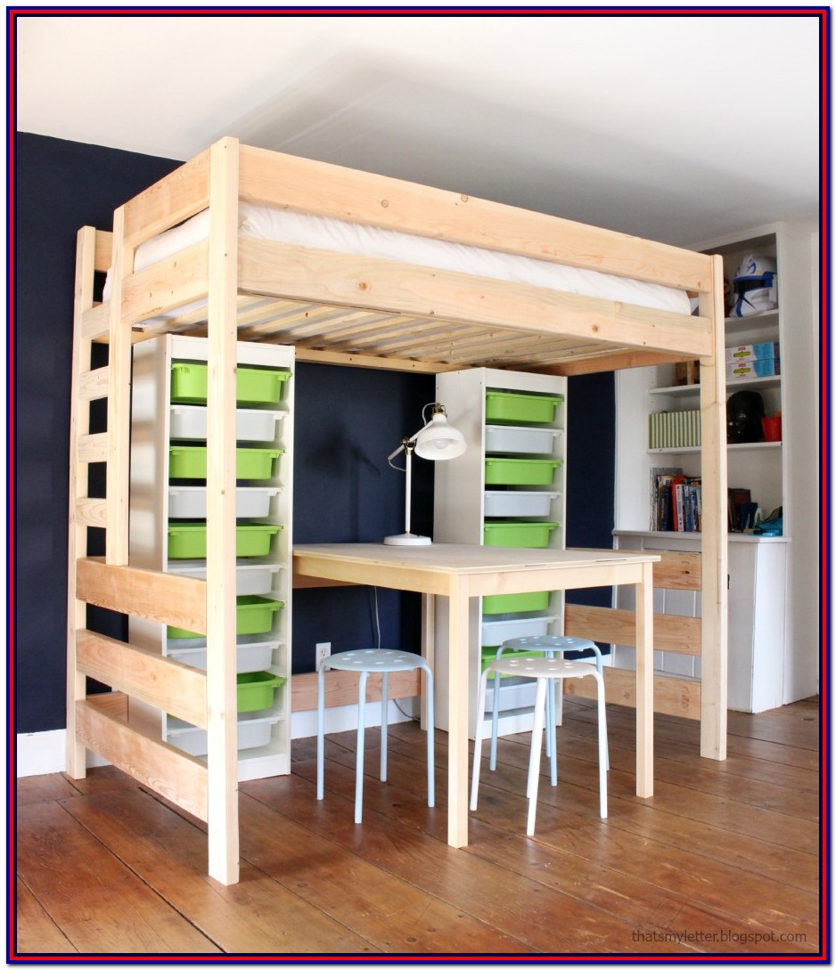Loft Bed With Storage Diy