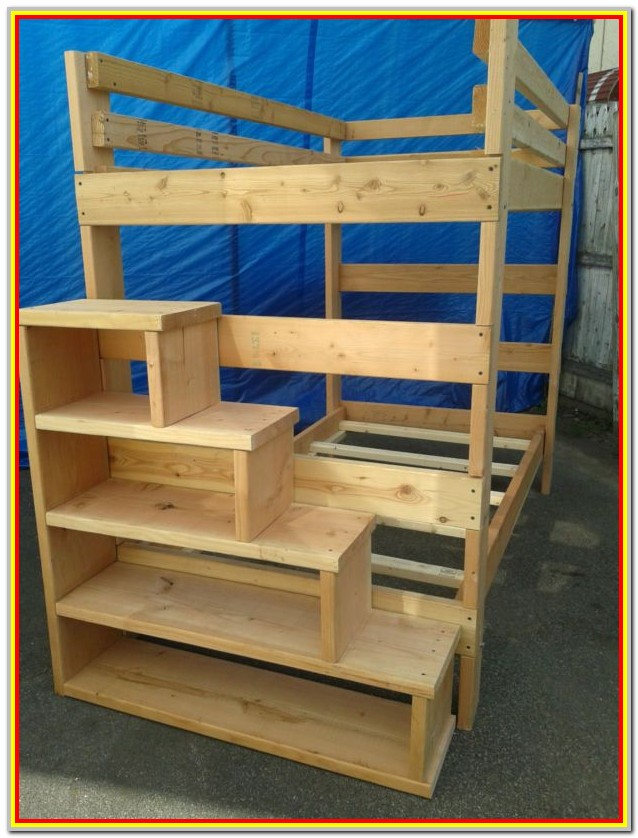 Loft Bed With Storage Stairs And Desk Plans