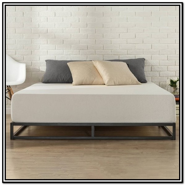 Low Profile Metal Bed Frame King
