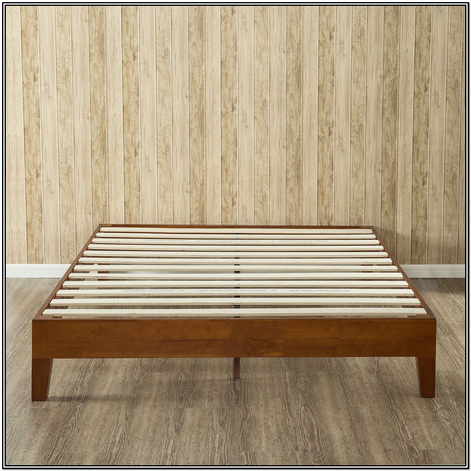 Low Profile Wood Bed Frame King