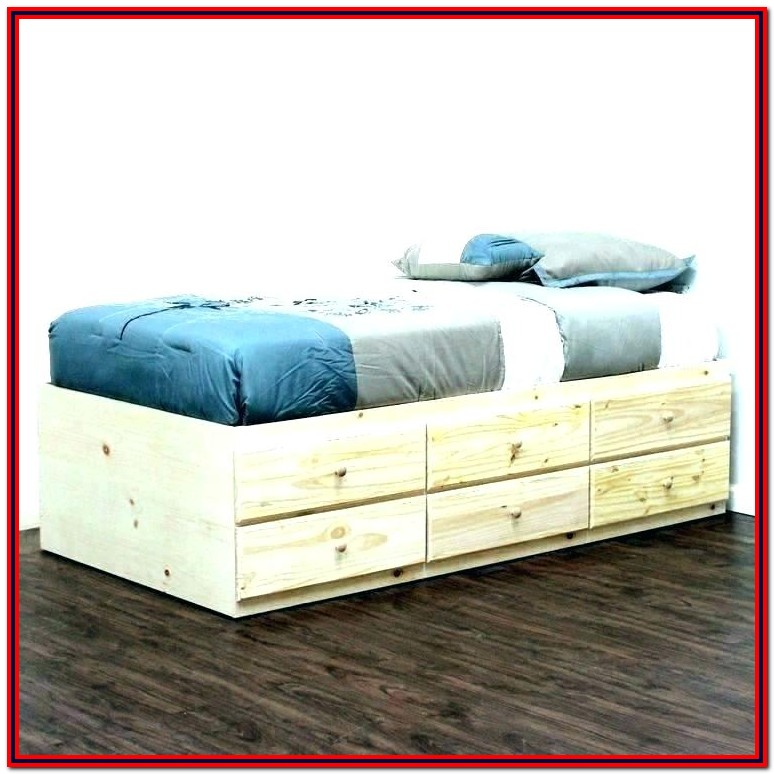 Merax Solid Wood Storage Twin Platform Bed With 6 Drawers