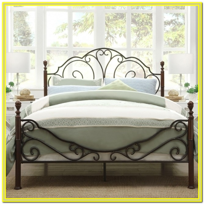 Metal King Bed Frame With Headboard