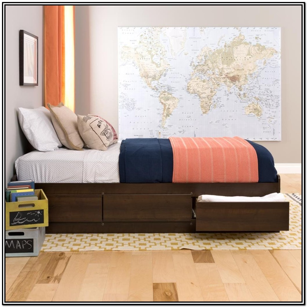 Norristown Extra Long Twin Platform Bed With Storage