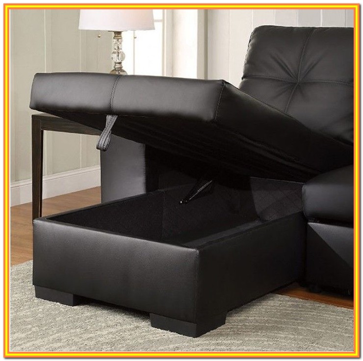 Pull Out Sofa Bed With Chaise Storage