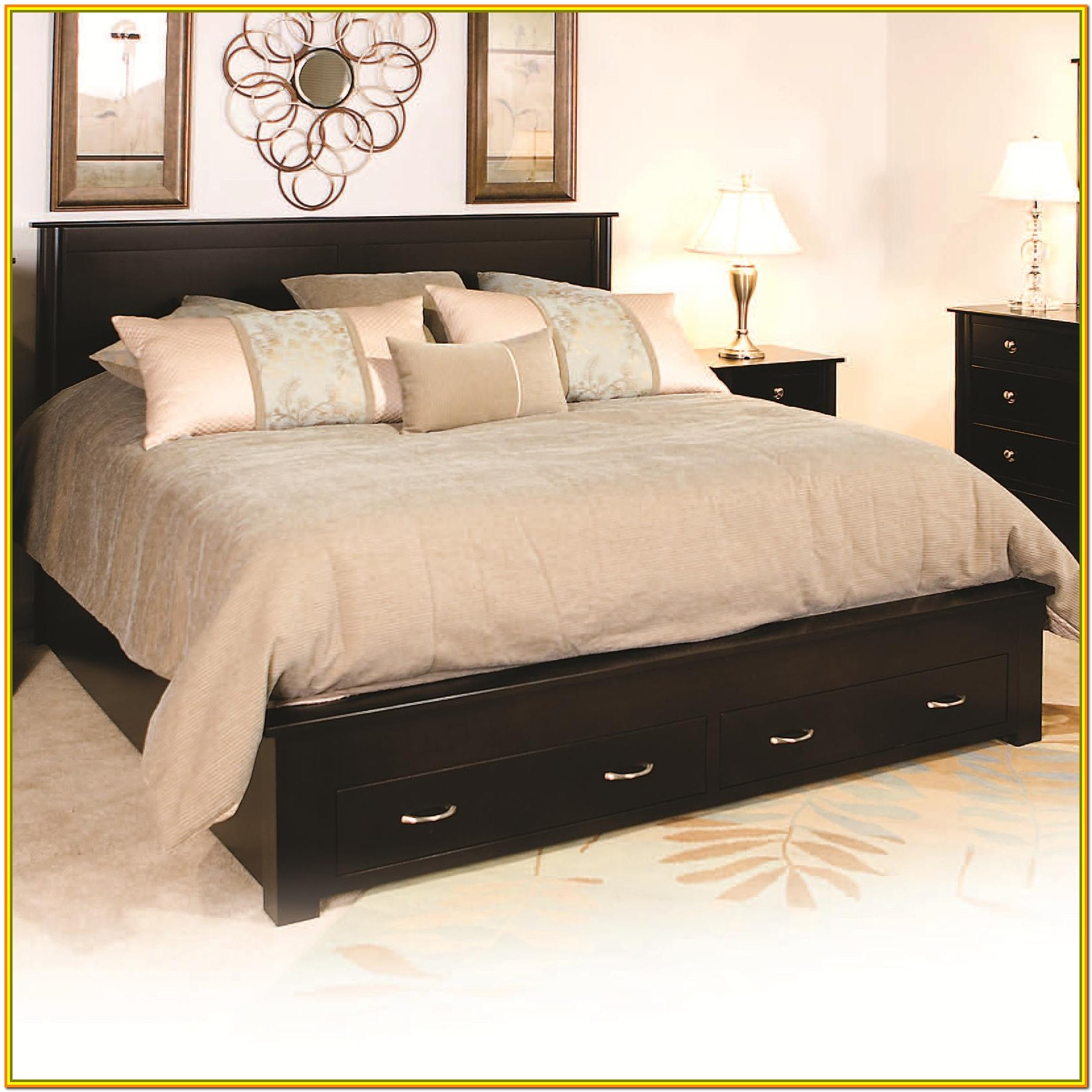 Queen Bed Frame With Drawers Under