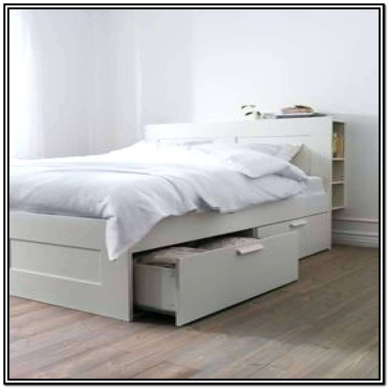 Queen Bed With Trundle And Storage