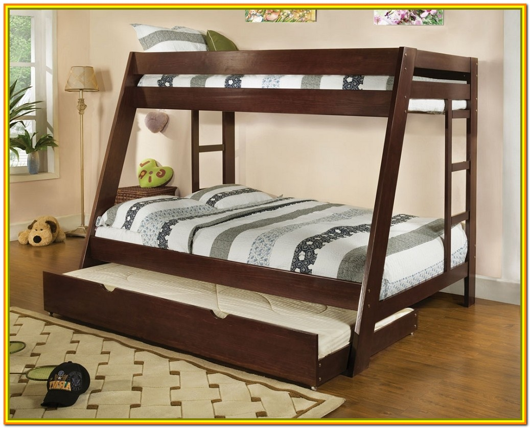 Queen Over Queen Bunk Bed With Stairs