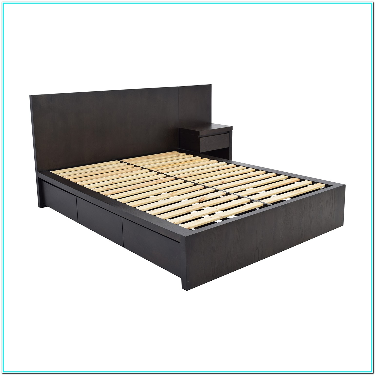 Queen Platform Bed Frame With Headboard And Footboard