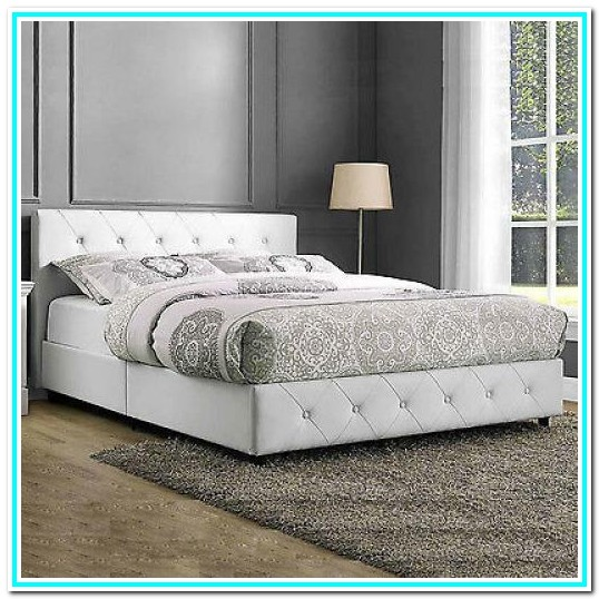 Queen Platform Bed Frame With Headboard White