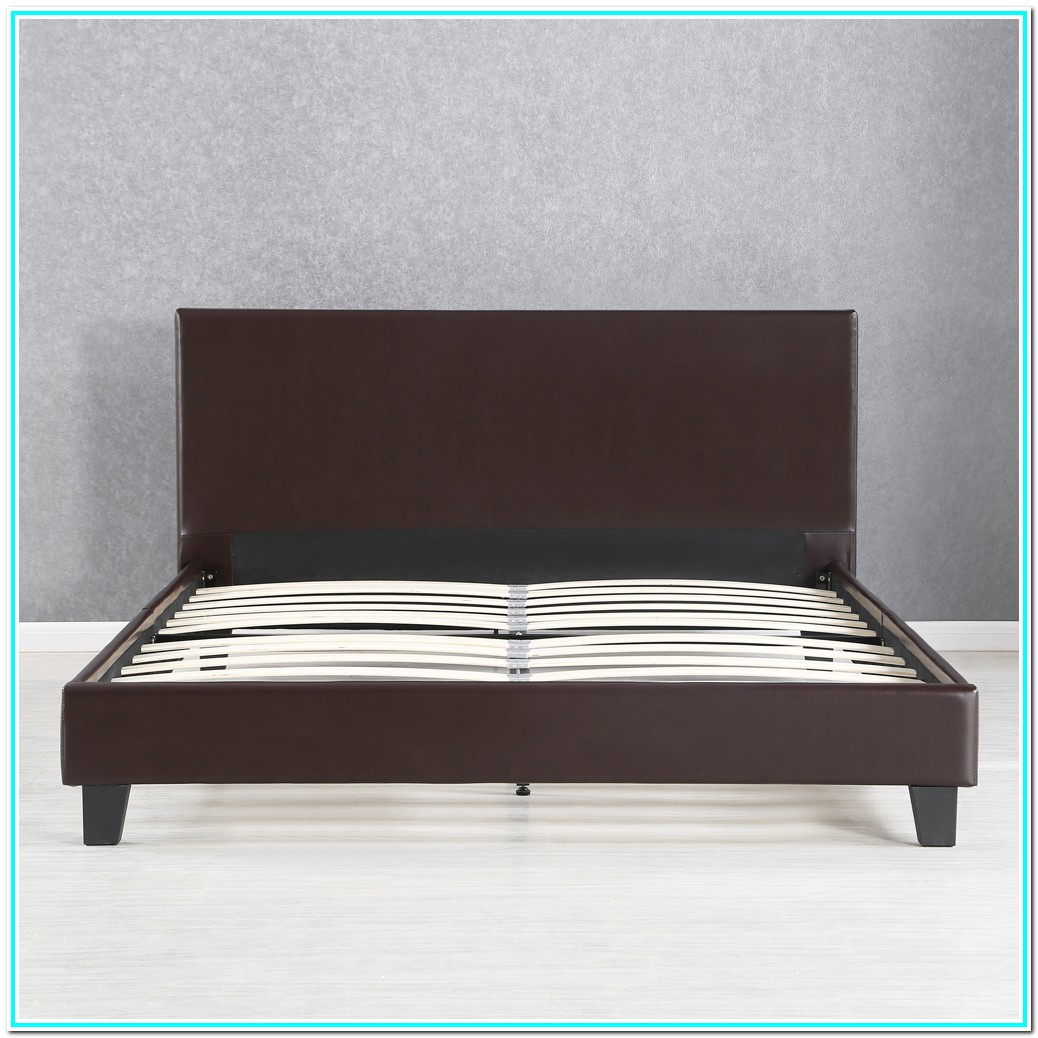Queen Platform Bed Frame With Headboard Wood