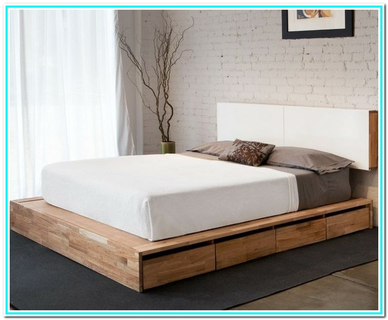 Queen Size Bed Frame With Storage No Headboard