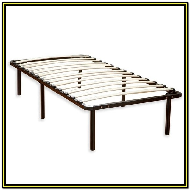 Queen Size Mattress Wood Slat Platform Bed Frame