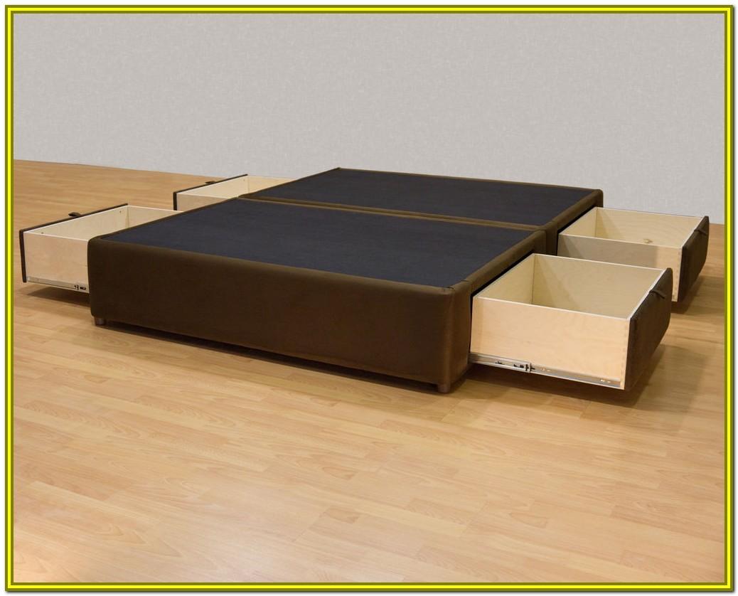 Queen Size Platform Storage Bed Frame