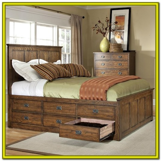 Queen Size Storage Beds With Drawers