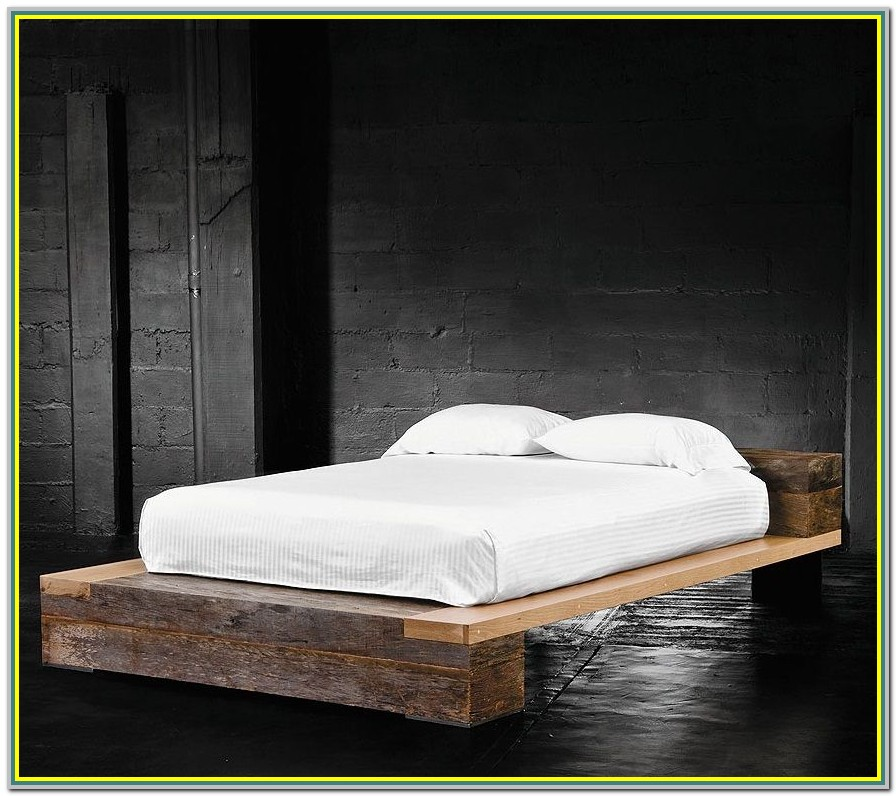 Reclaimed Wood Platform Bed Canada