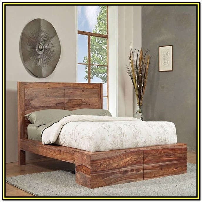 Solid Wood Queen Bed Frame Images