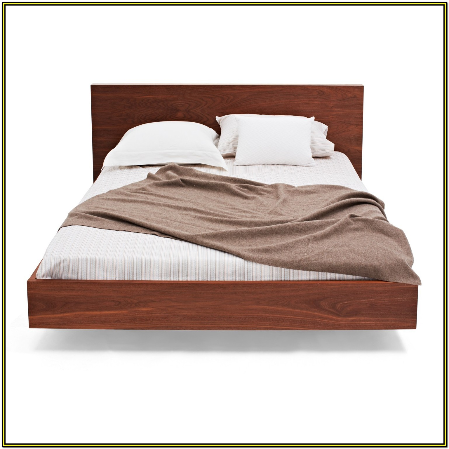 Solid Wood Queen Bed Frame With Headboard