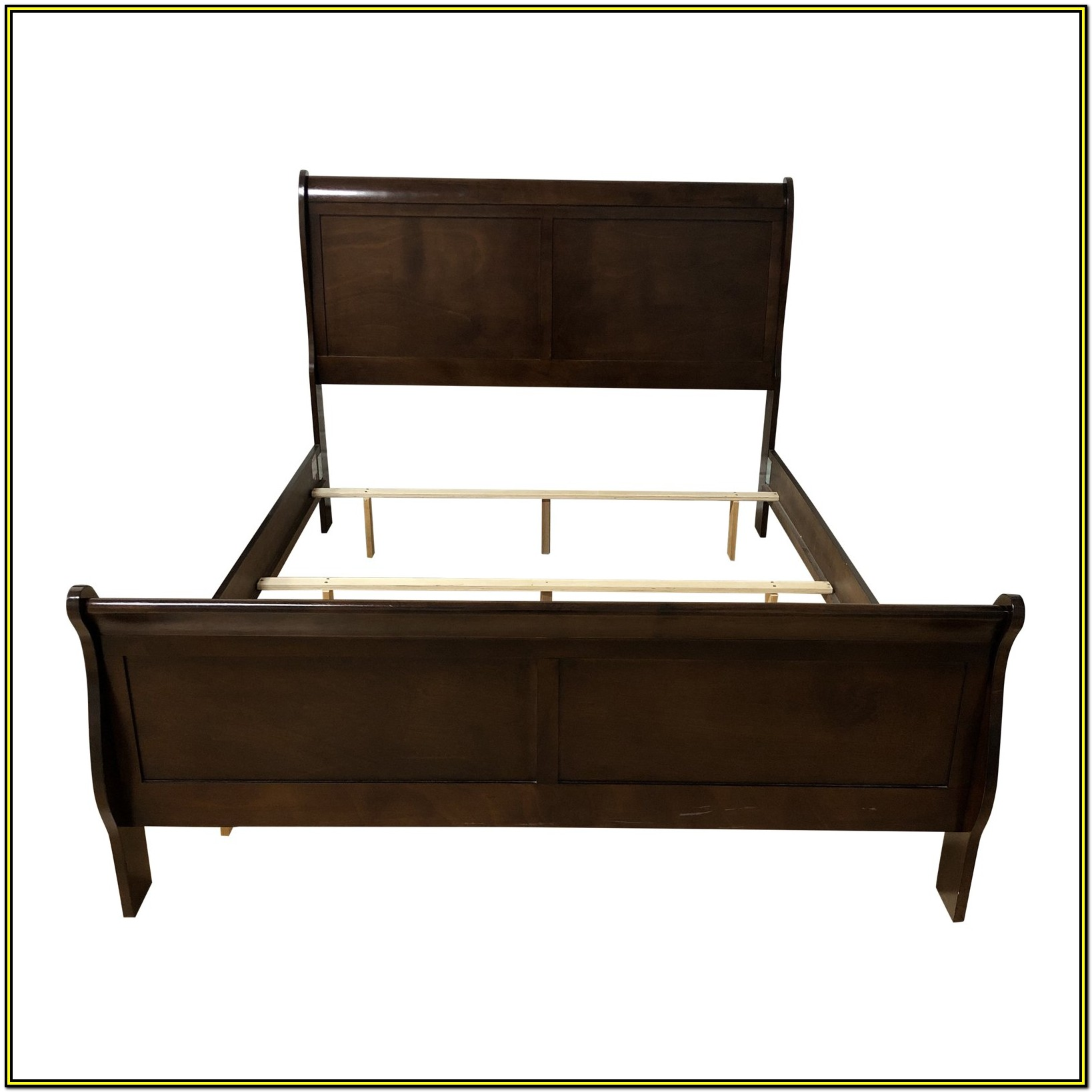 Solid Wood Queen Sleigh Bed Frame