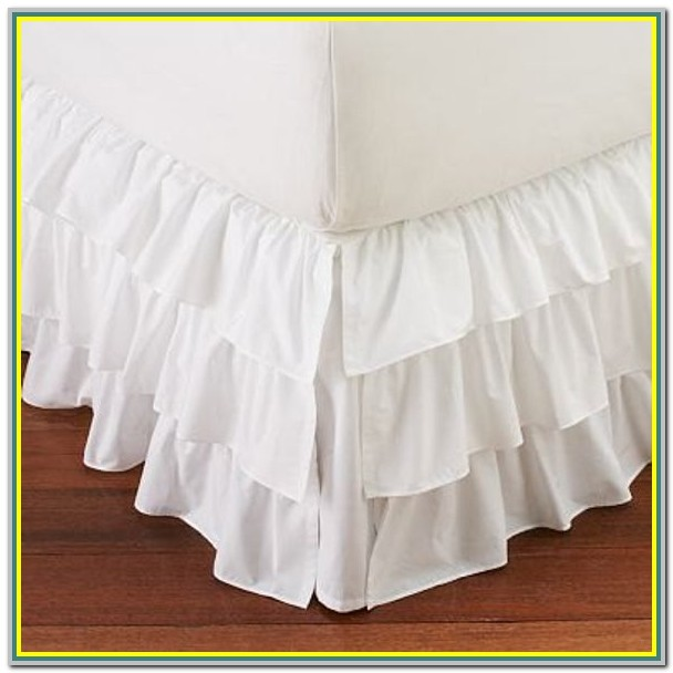 Split Corner Bed Skirt Queen White