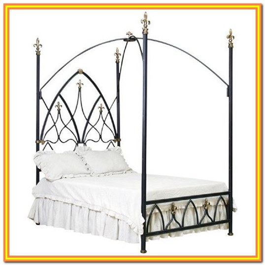 The Curated Nomad Bailey Charcoal Full Size Canopy Bed Frame