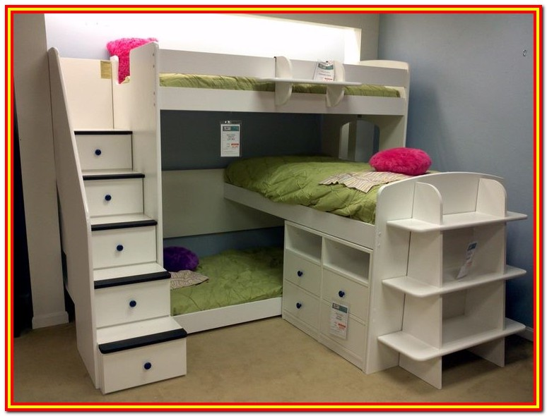 Triple Bunk Bed With Storage Steps