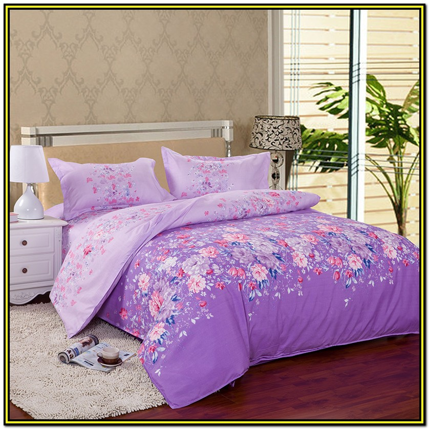 Twin Bed Comforter Sets Purple
