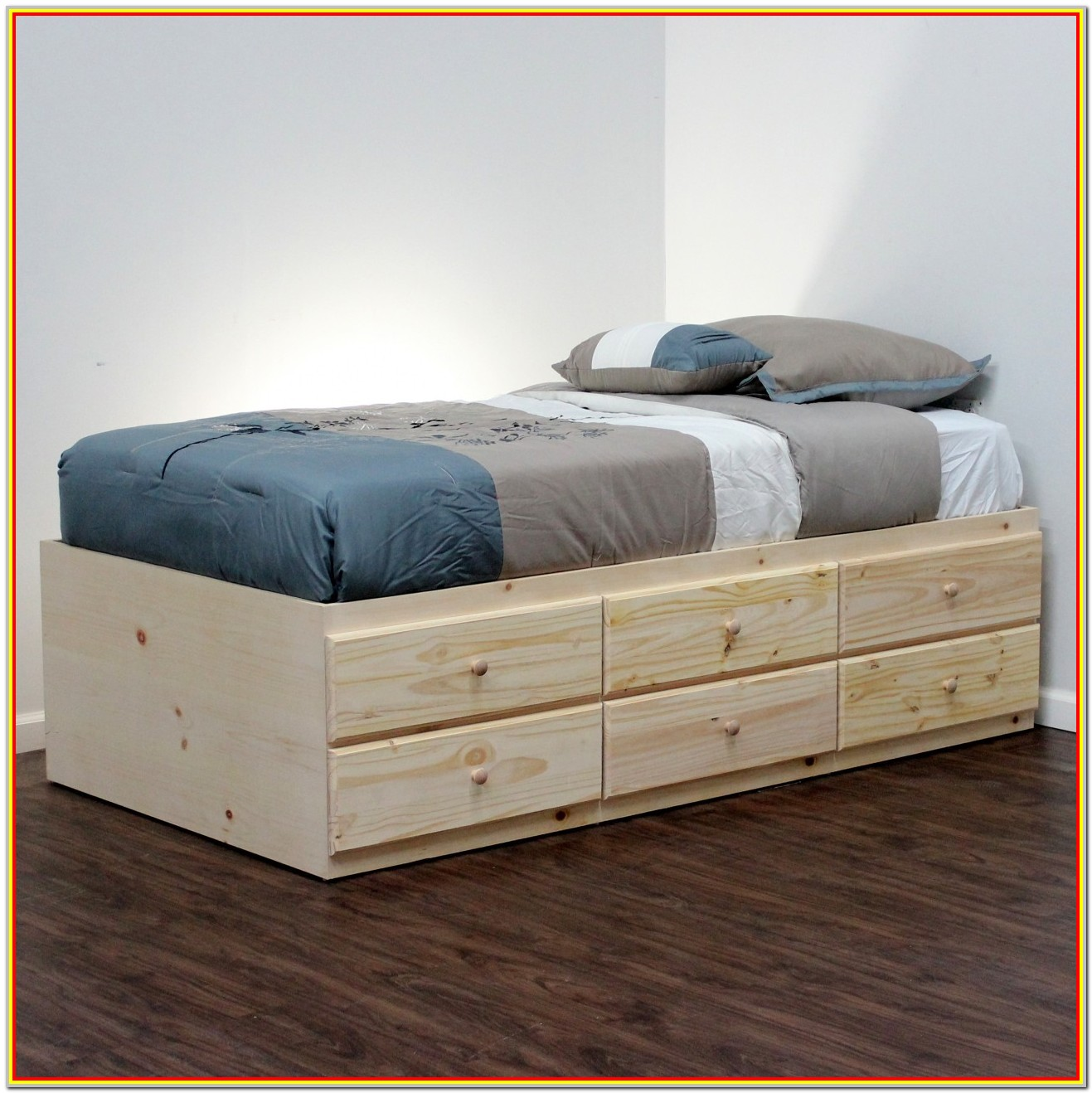 Twin Bunk Bed With Storage Drawers