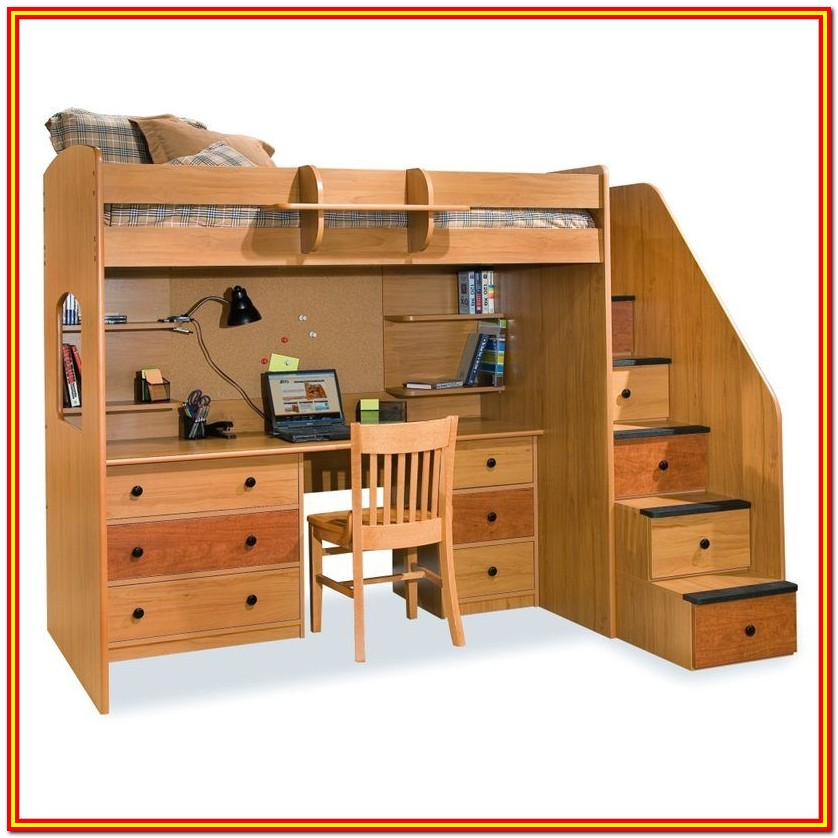 Twin Bunk Bed With Storage Plans
