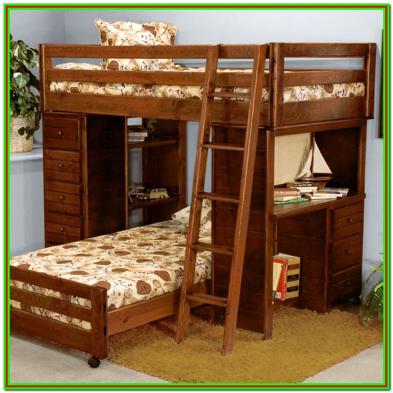 Twin Over Full Bunk Bed With Desk Uk
