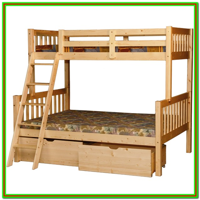 Twin Over Full Bunk Bed With Trundle And Drawers