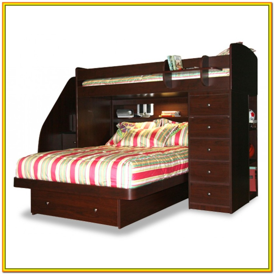 Twin Over Full Loft Bed With Stairs