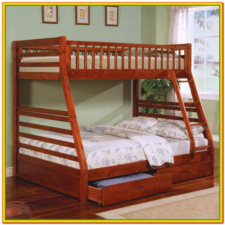 Twin Over Queen Bunk Bed With Stairs Plans