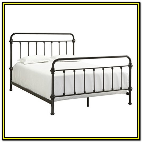 Vintage Wrought Iron Bed Frame Queen
