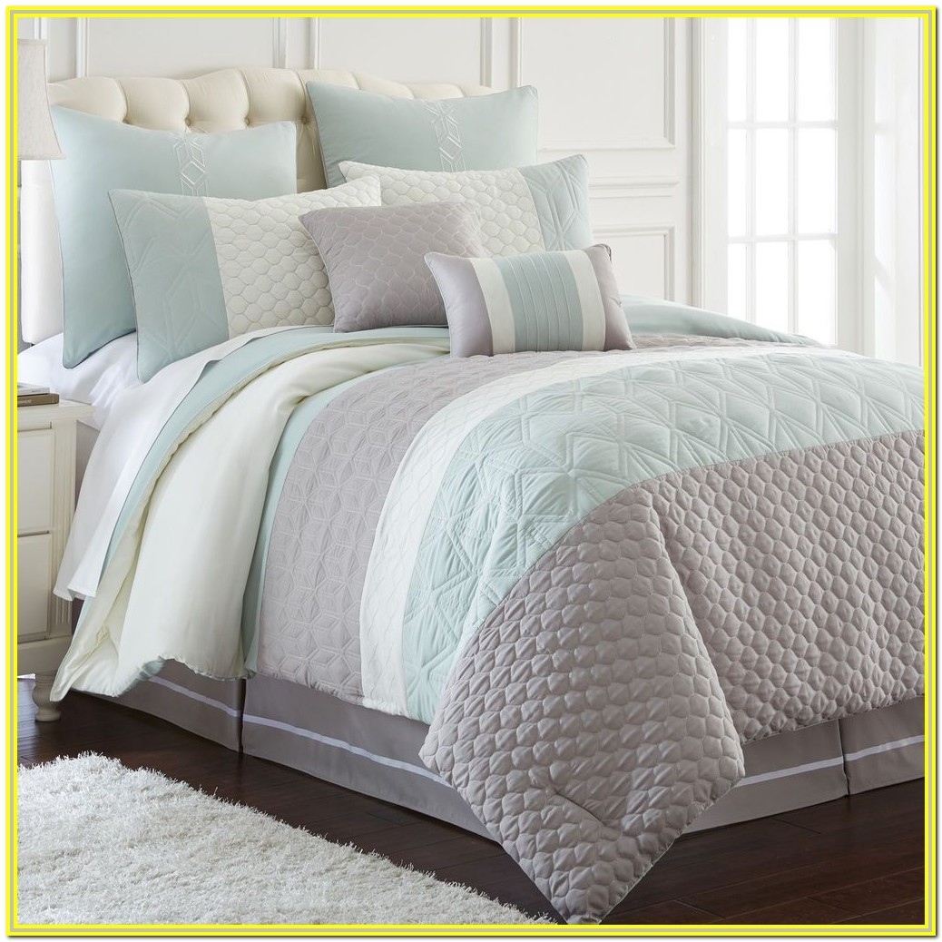 White And Gray Bedding Ideas