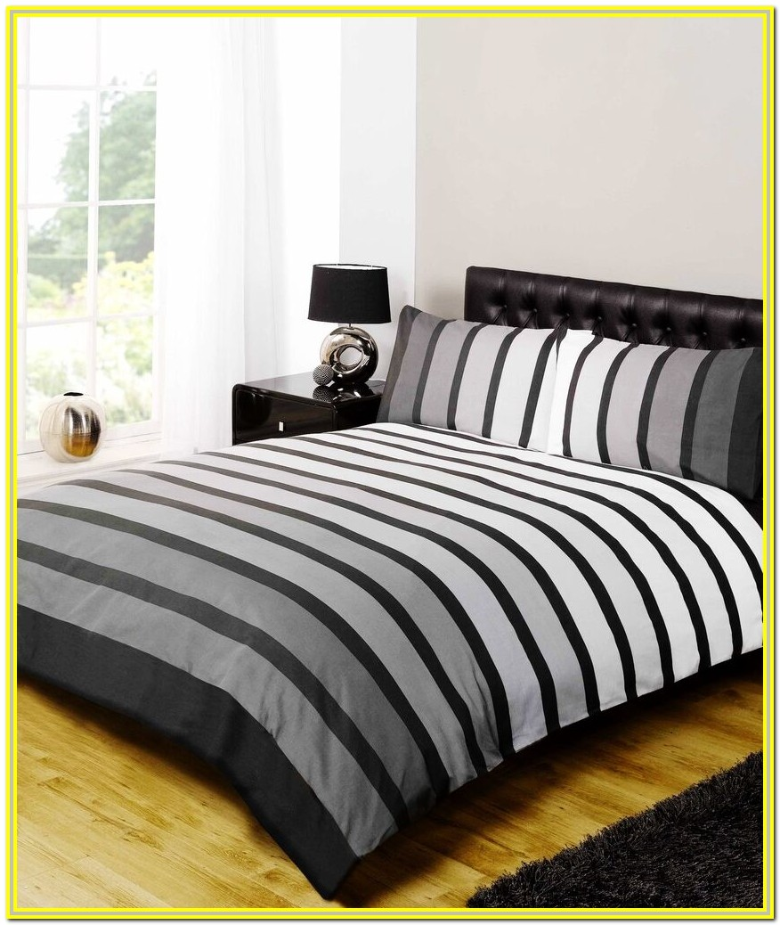 White And Grey Bedding Double
