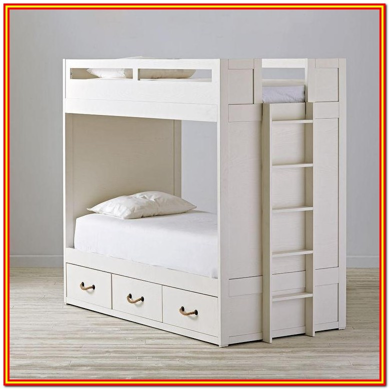White Bunk Beds With Storage Drawers