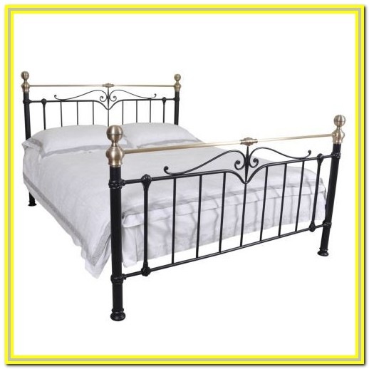 White Metal Cal King Bed Frame